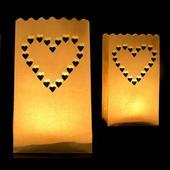 Lampiony-srdce 30ks,