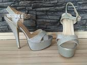 strieborne sandalky, 40