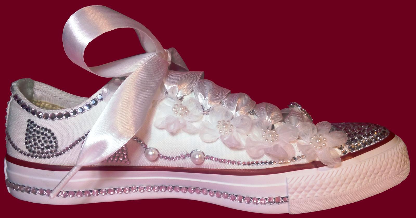 Štýlové svadobné tenisky Converse low - Obrázok č. 3
