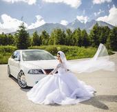 Svadobné šaty na vysokú postavu, 36