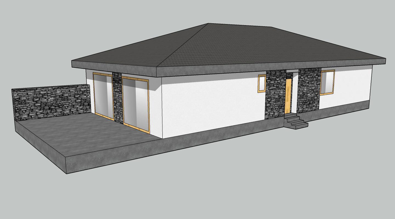 Ahojte, čo myslíte....tmavá strecha a okná írsky dub ... Samozrejme fasádu prispôsobiť asi nie ako na foto... - Obrázok č. 3