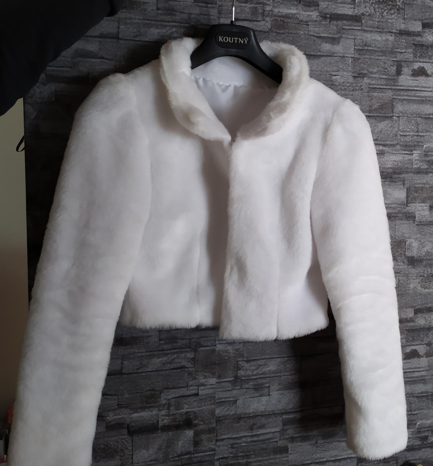 mäkký kabátik pre nevestu - Obrázok č. 3