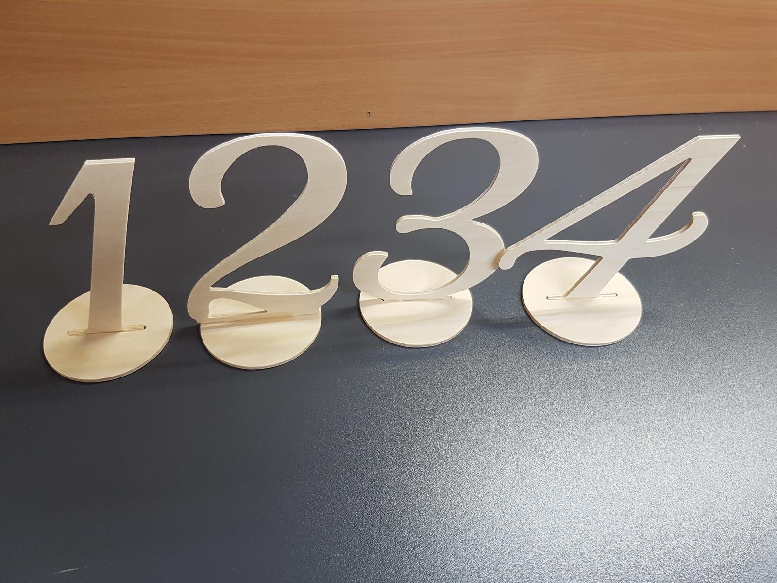 Drevene cisla na stoly od 1 po 10 - Obrázok č. 2