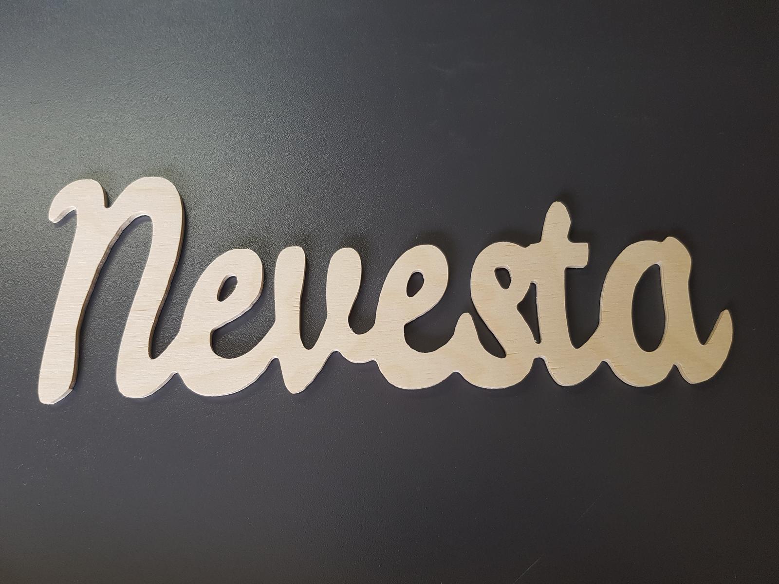 Drevený nápis Zenich / Nevesta - Obrázok č. 2