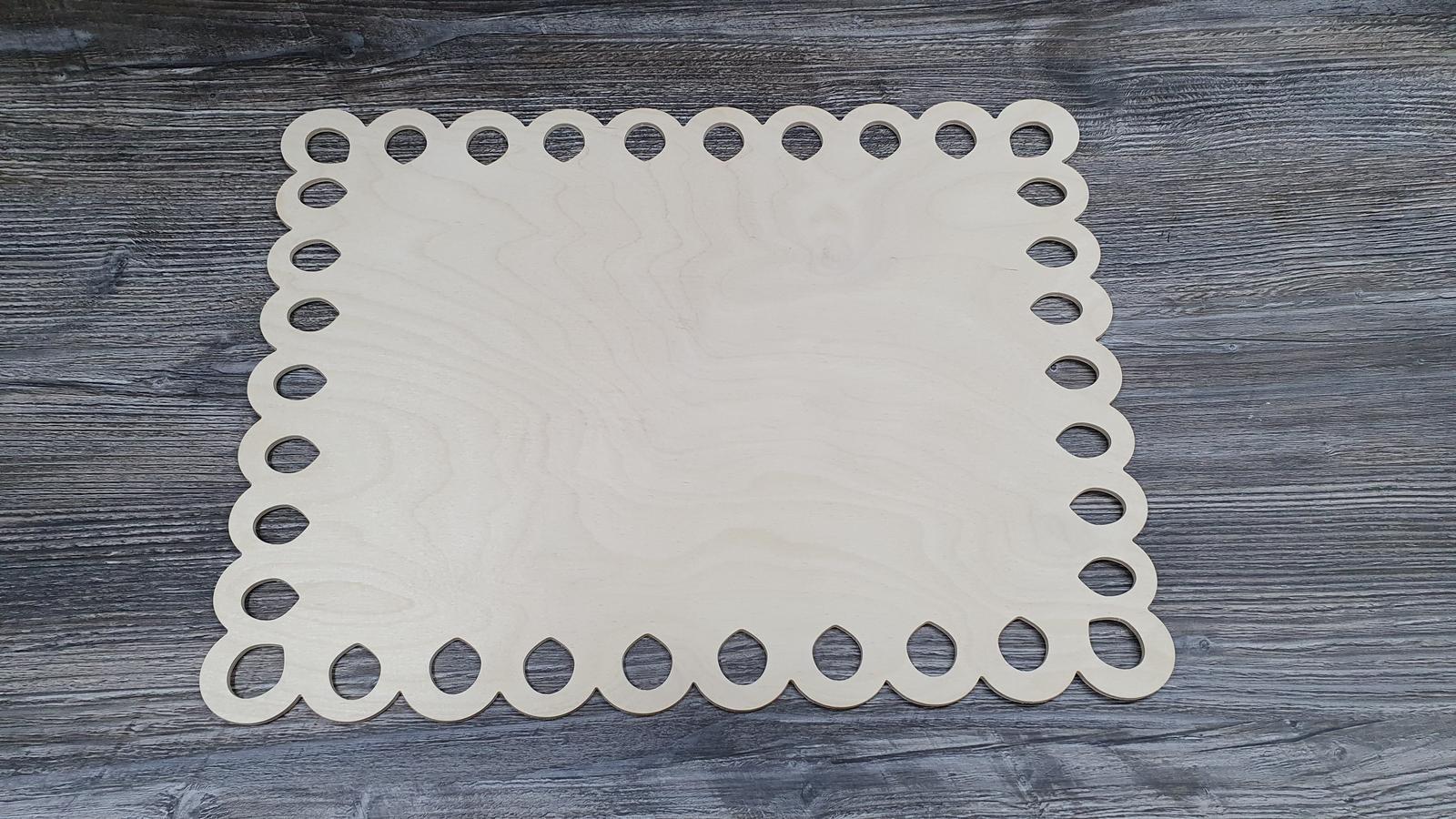 Drevený podnos / drevená tacka na tortu - Obrázok č. 1