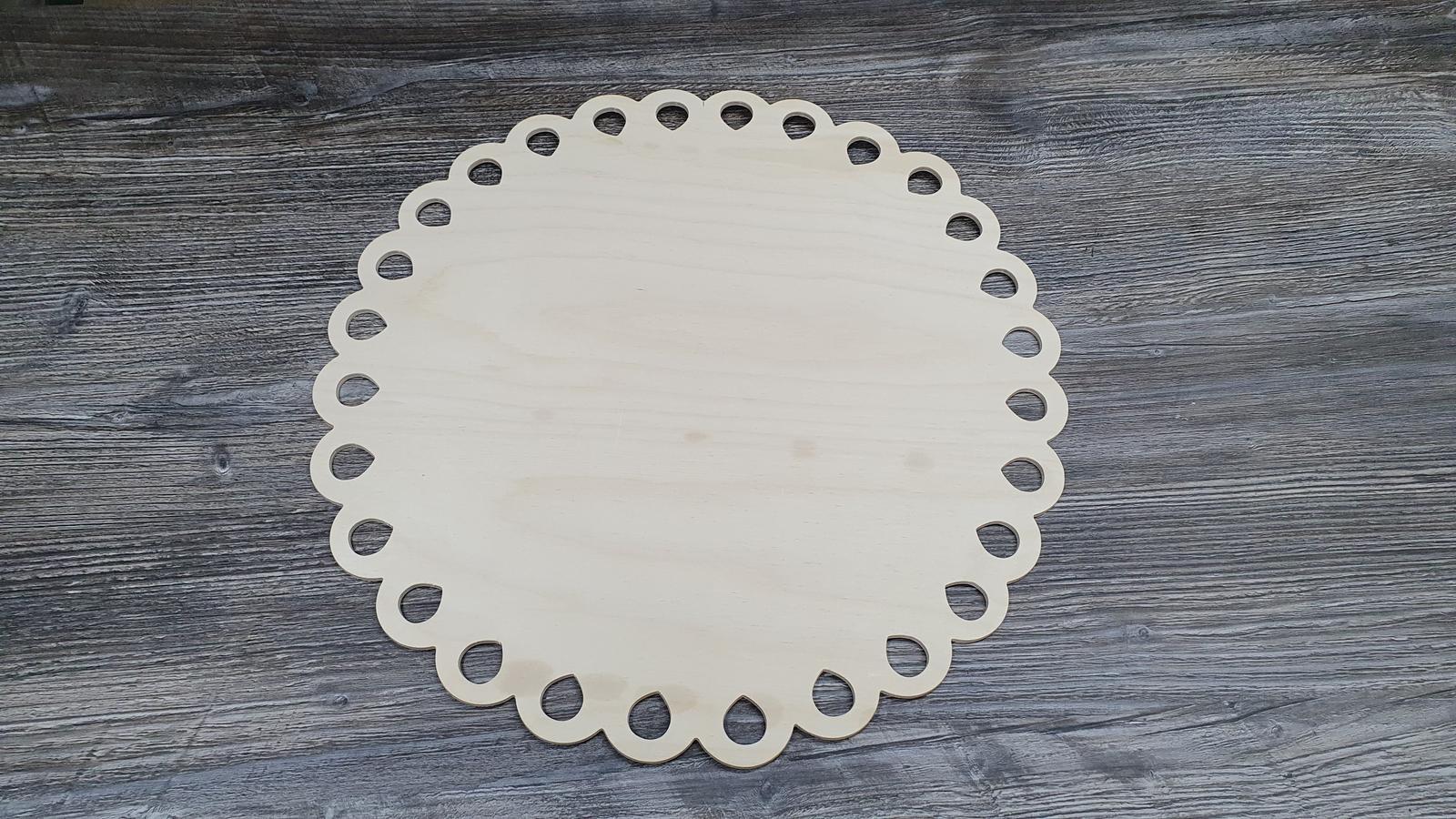 Drevený podnos / drevená tacka na tortu - Obrázok č. 2