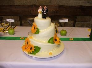 náš hlavní dortík, bohužel už trochu rozteklý:-(