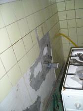nový rozvod vody do kuchyne