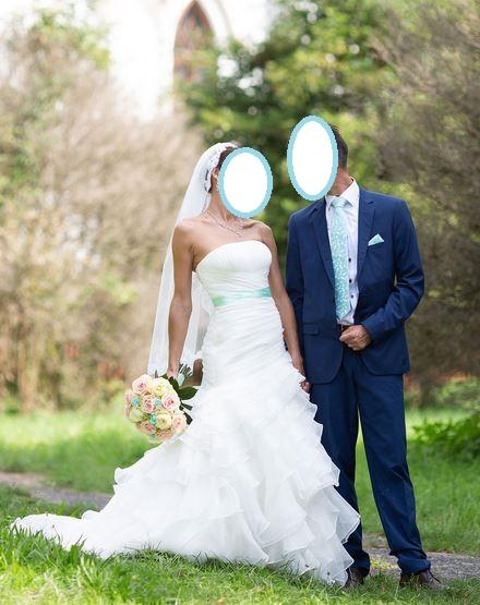 Lahucke volanove svadobne saty + doplnky - Obrázok č. 1