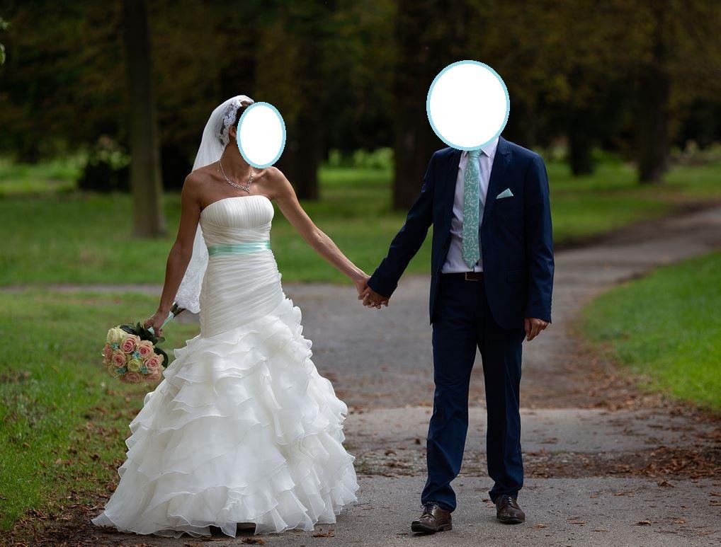 Lahucke volanove svadobne saty + doplnky - Obrázok č. 2