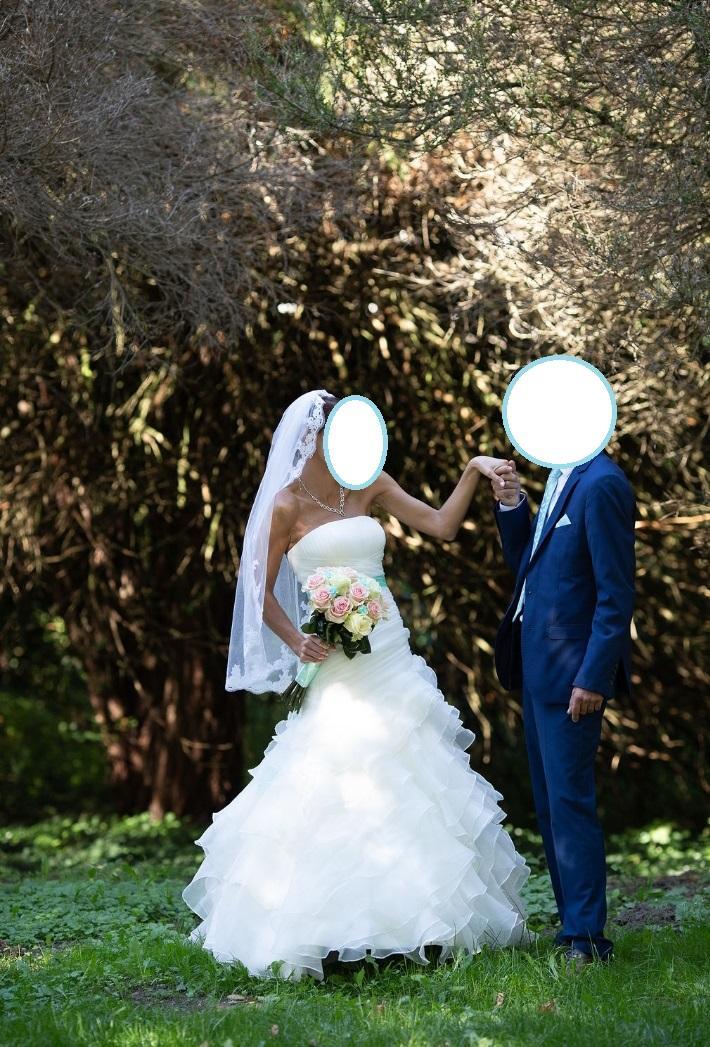 Lahucke volanove svadobne saty + doplnky - Obrázok č. 4