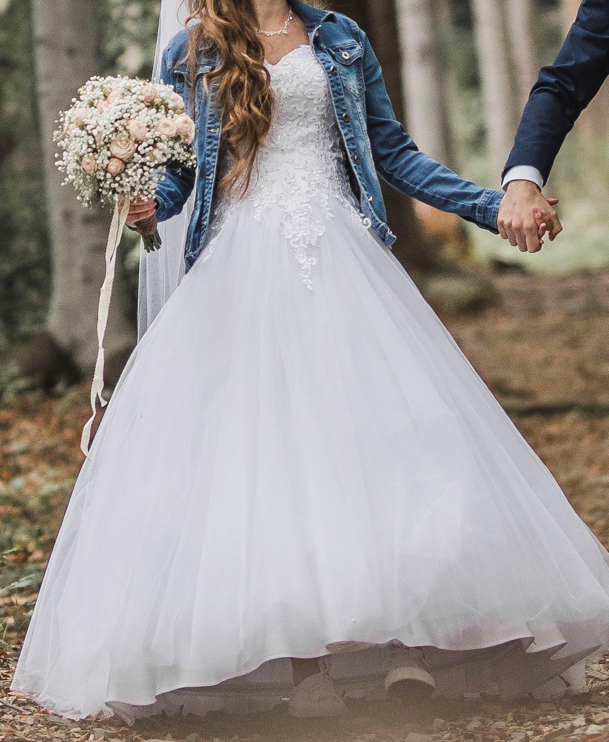 Svatební šaty (vhodné i pro těhotné) - Obrázek č. 1