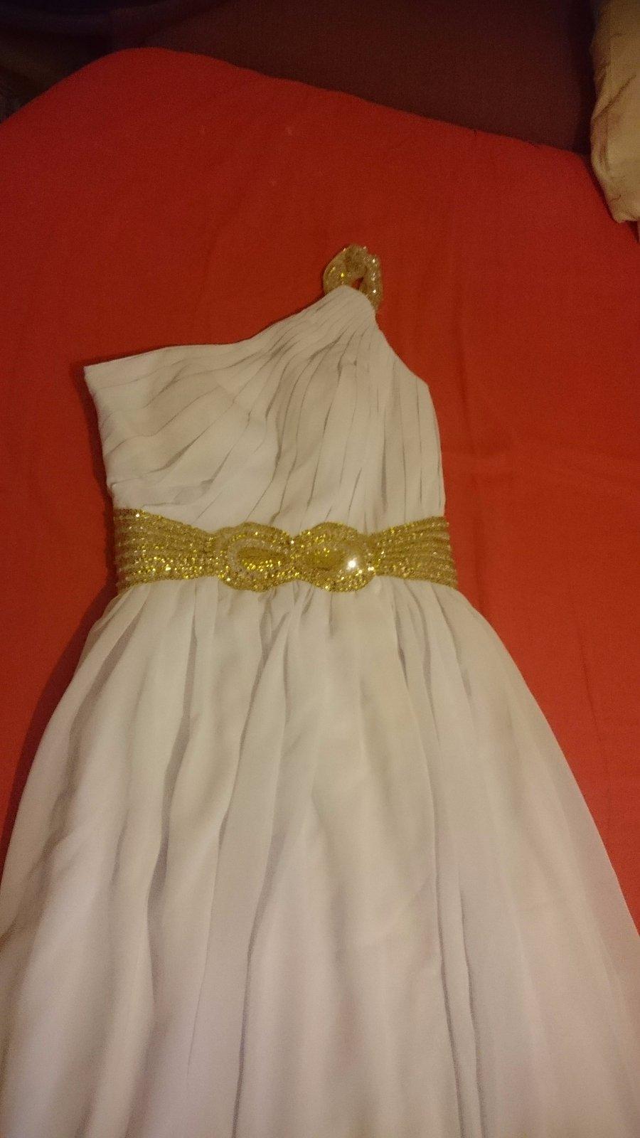 Nenosené biele spoločenské šaty - Obrázok č. 1