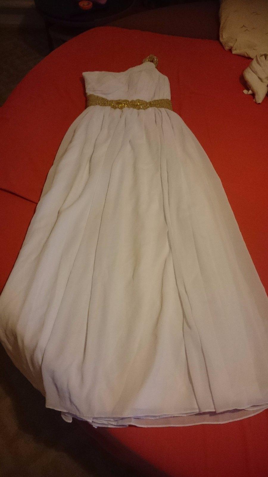 Nenosené biele spoločenské šaty - Obrázok č. 2
