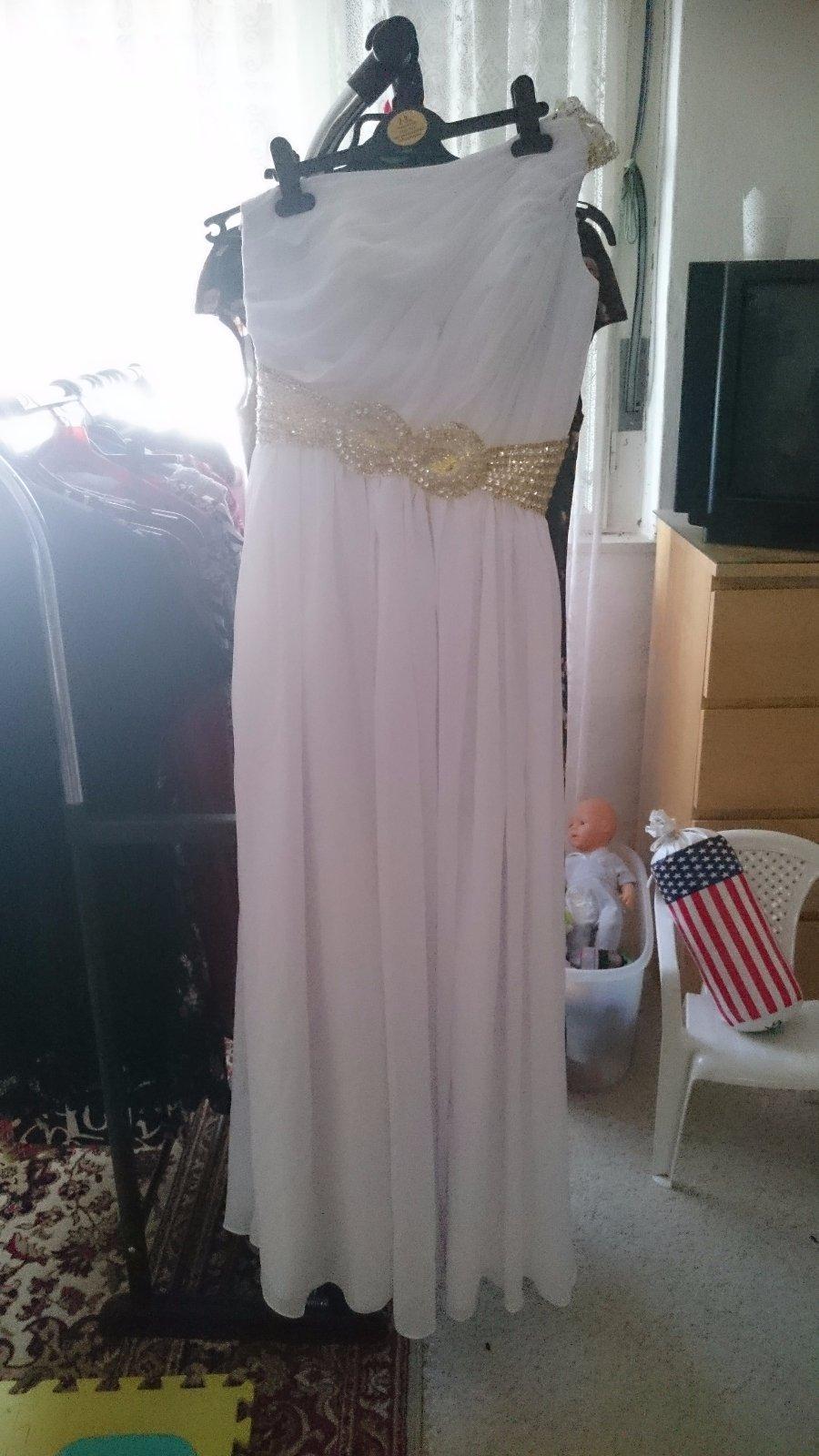 Nenosené biele spoločenské šaty - Obrázok č. 3