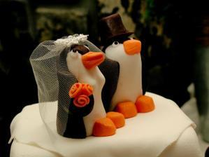 novomanželé z marcipánu