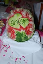 a naše iniciály v melounu