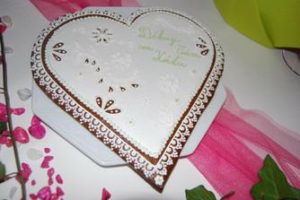děkovná srdce rodičům (výrobek předčil očekávání)- za inspiraci děkuji nevěstě z BRMS