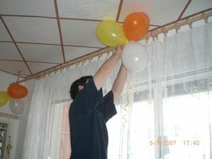 balonková výzdoba na svatební den