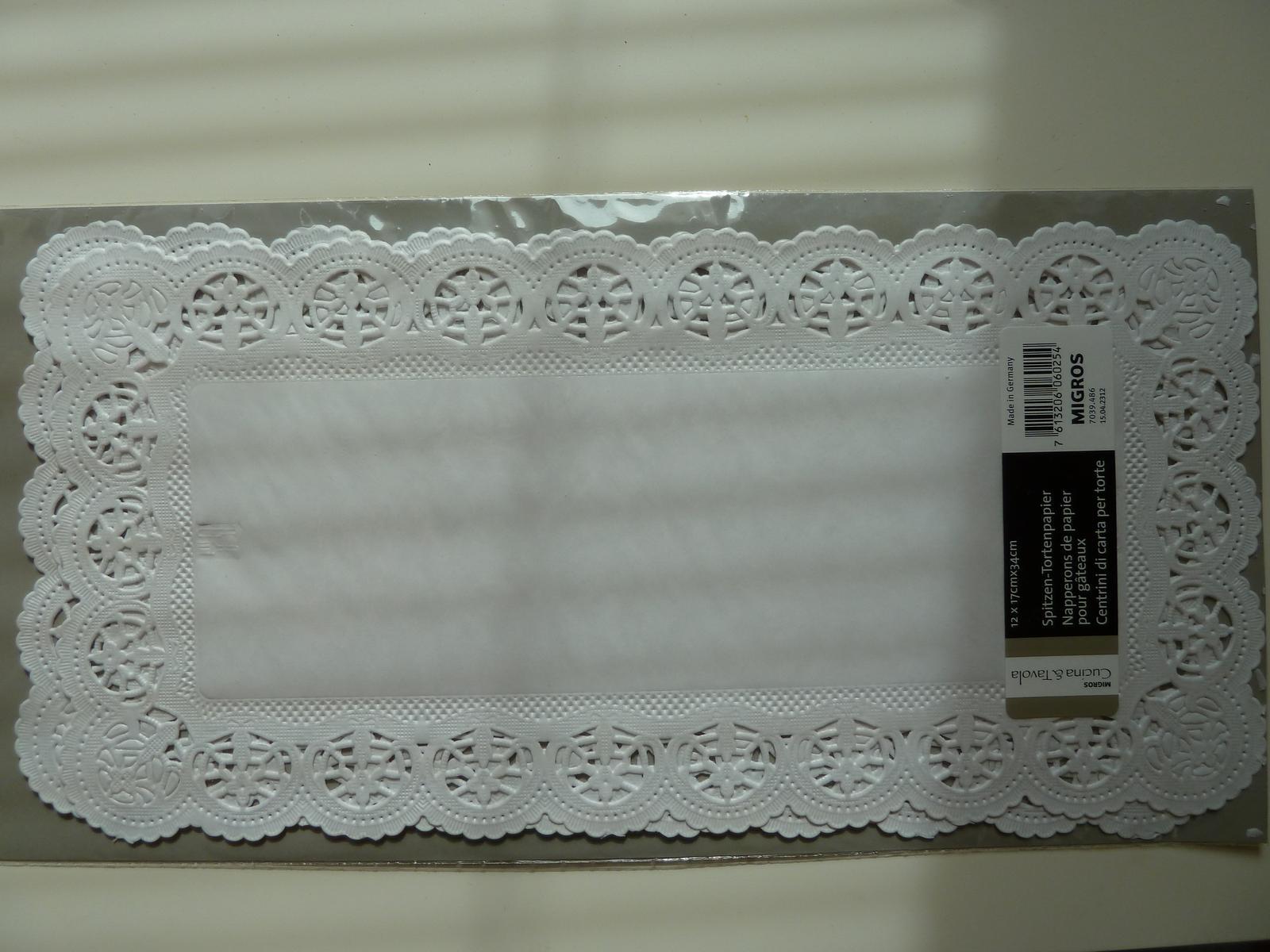 Papírová krajka pod dort - obdélník - Obrázek č. 1