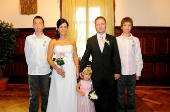 S mými syny a naší dcerkou