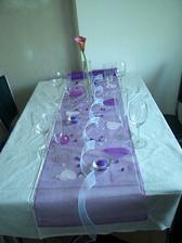 První pokus ozdobení svatební tabule