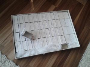 Dneska mi přišly krabičky na mandle - 50 kousků