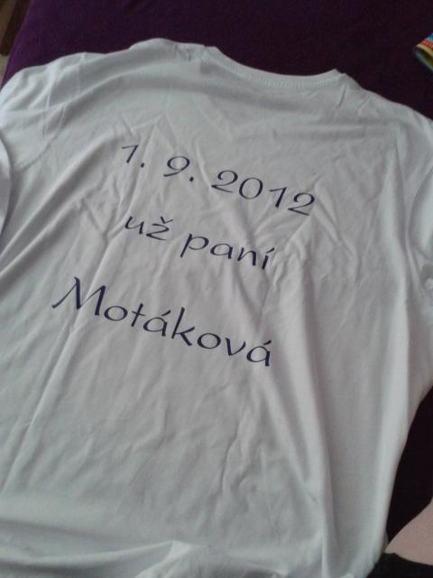 Naše třička :) - zadní strana trička