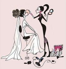 Nevěsta se připravuje....to si pak nakreslím na dveře. :-)