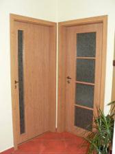 Nové dveře ložnice/šatna