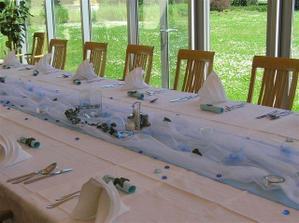 Svatbu plánujeme ladit do modré barvy...