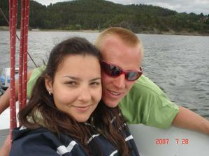 svatební cesta - Orlík (na plachetnici)