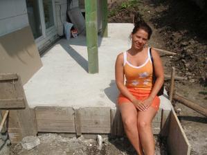 Vyhrievam sa na terase :-)