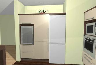 Výklenek pro spižní skříň a lednici