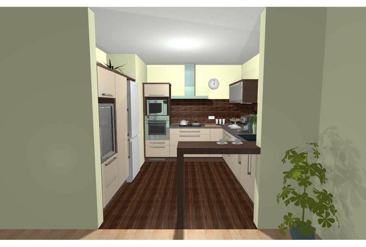 Kuchyň - Pohled z obýváku - jídelny