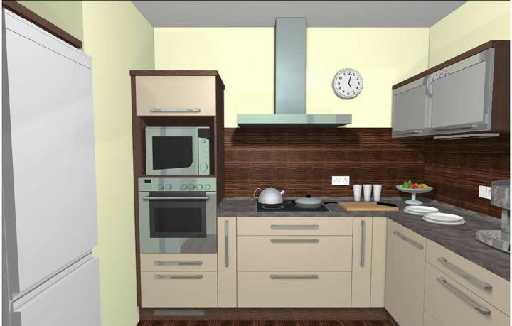 Kuchyň - finální verze, výsuvy pod varnou deskou