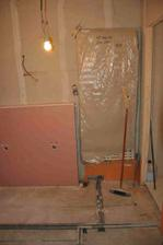 horní koupelna - na žebřík fakt není moc místa :)