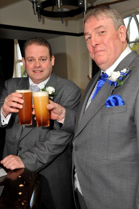 Pam{{_AND_}}Neil Figgett - Neil and his best man settling their nerves :-)