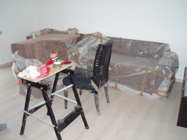 Kuchyň a postupné zabydlování - Obývák před...