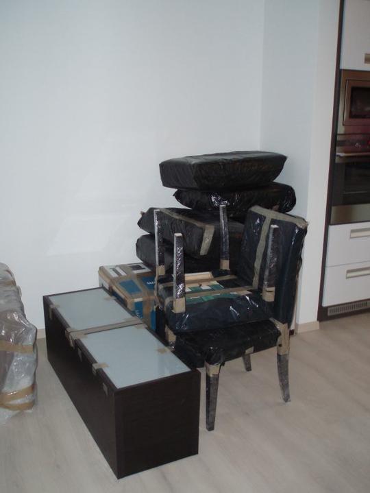 Kuchyň a postupné zabydlování - Jídelna před...