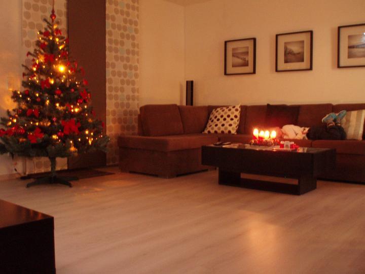 Kuchyň a postupné zabydlování - Jedna vánoční:-)