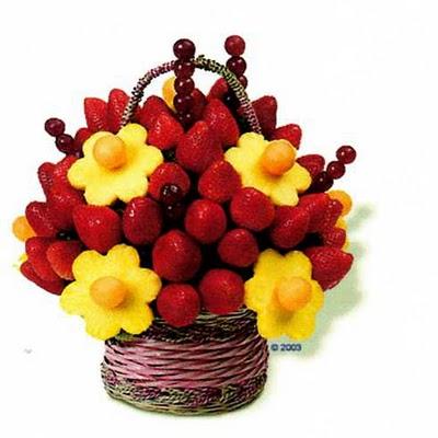 JÍDLO - inspirace - se na ovoce musí sahat rukama, aby se dalo sníst, ale vypadá to krásně