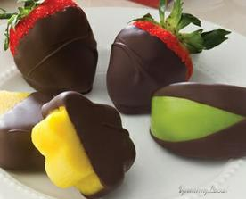 i jahody v čokoládě