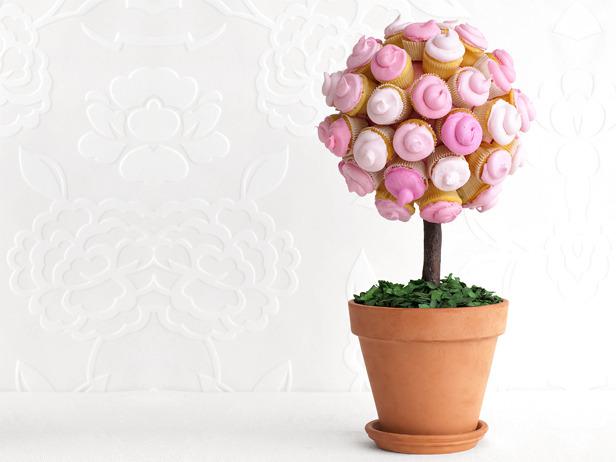 JÍDLO - inspirace - cuppycaková květinka (stromeček)
