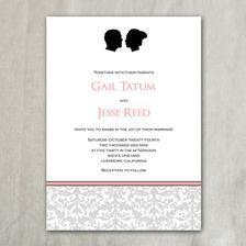 http://socialbeepaperie.bigcartel.com/product/custom-silhouette-wedding-invitation