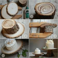 STOLEK POD DORT návod http://www.oncewed.com/514/diy-wedding/decorations/rustic-wedding-cake-stand/?currentPage=1 a všude kolem mech :)