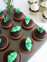 JÍDLO - inspirace - dortíky rostlinky