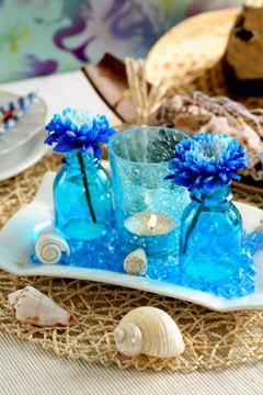 INSPIRACE - Kombinace s modrou (odstíny modré, s bílou, s černou, se zlatou, se zelenou, s hnědou, ...) - ty skleničky