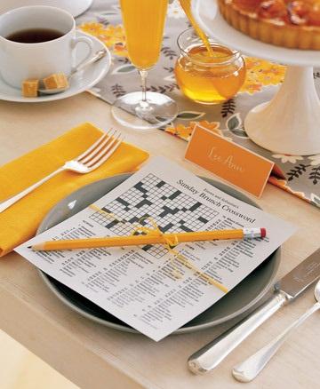 INSPIRACE - Medovo-kávová - křížovka na zabavení hostů než se novomanželé dofotí