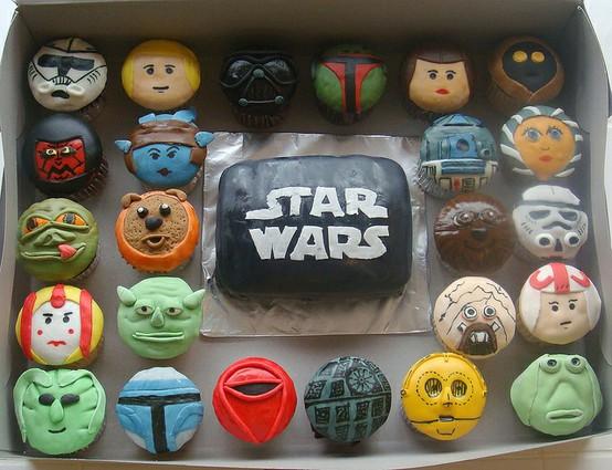 Sladký koutek (zajímavé nápady na cuppycakes, nezvyklé dorty, macarons atd. nejen na svatbu) - Star Wars